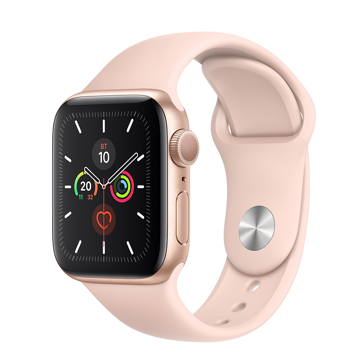 Apple Watch Series 5 GPS 40mm Aluminum Case with Sport Band (Золотистый)