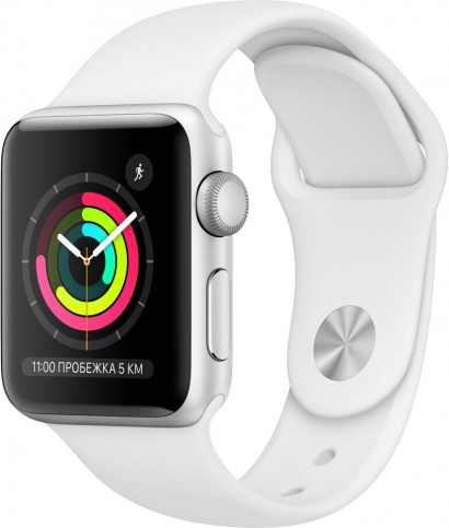 Apple Watch Series 3 38mm Aluminum Case with Sport Band/Silver (MQM82)